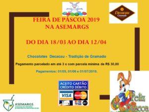 Feira de Páscoa na ASEMARGS - 2019_cartão